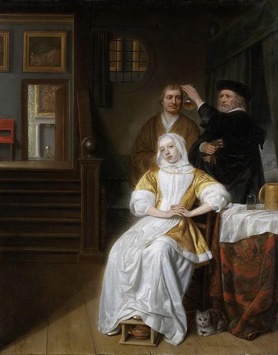 Hoogstraten, Samuel van -- De bleekzuchtige dame, 1660-1678. Rijksmuseum: part 4