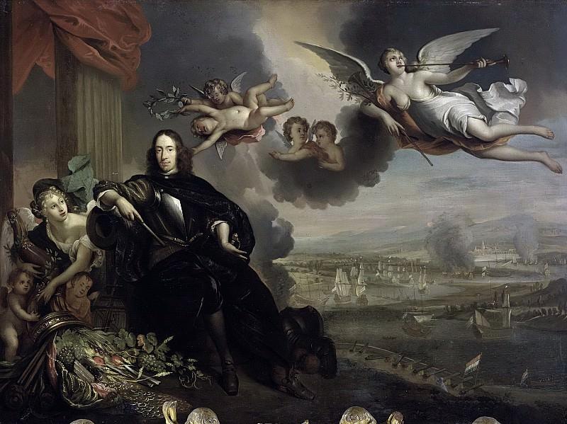 Baen, Jan de -- Verheerlijking van Cornelis de Witt, met op de achtergrond de tocht naar Chatham, 1667-1700. Rijksmuseum: part 4