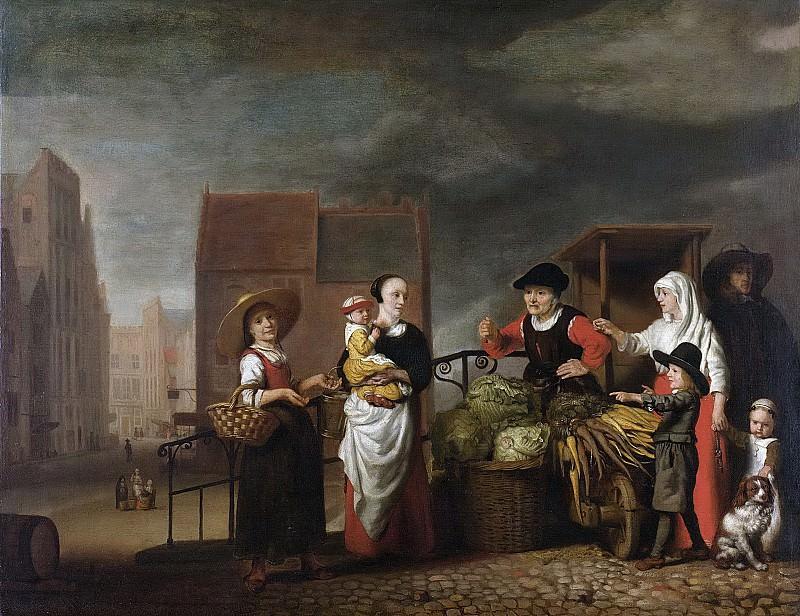 Maes, Nicolaes -- Groentemarkt, 1655-1665. Rijksmuseum: part 4