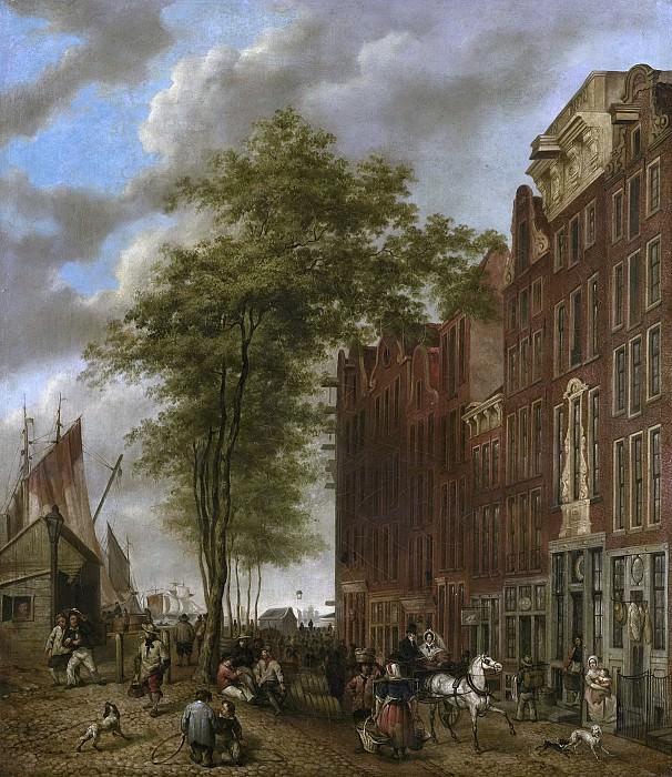 Hoevenaar, Willem Pieter -- De Slijpsteenmarkt te Amsterdam, 1835. Rijksmuseum: part 4