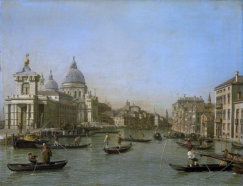 Canaletto -- De ingang van het Canal Grande bij de Punta della Dogana en de Santa Maria della Salute, 1730-1745. Rijksmuseum: part 4