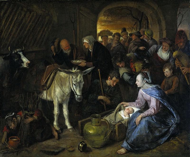 Steen, Jan Havicksz. -- De aanbidding der herders, 1660-1679. Rijksmuseum: part 4