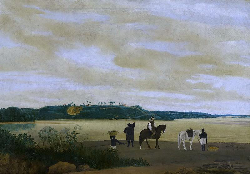 Post, Frans Jansz. -- Gezicht op het eiland Itamaracá, Brazilië, 1637. Rijksmuseum: part 4