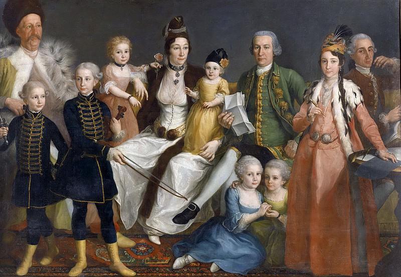 Антуан де Фаврэ -- Давид Георг ван Леннеп (1712-97). Главный торговец голландской фактории в Смирне со своими женой и детьми, 1769-1771. Рейксмузеум: часть 4
