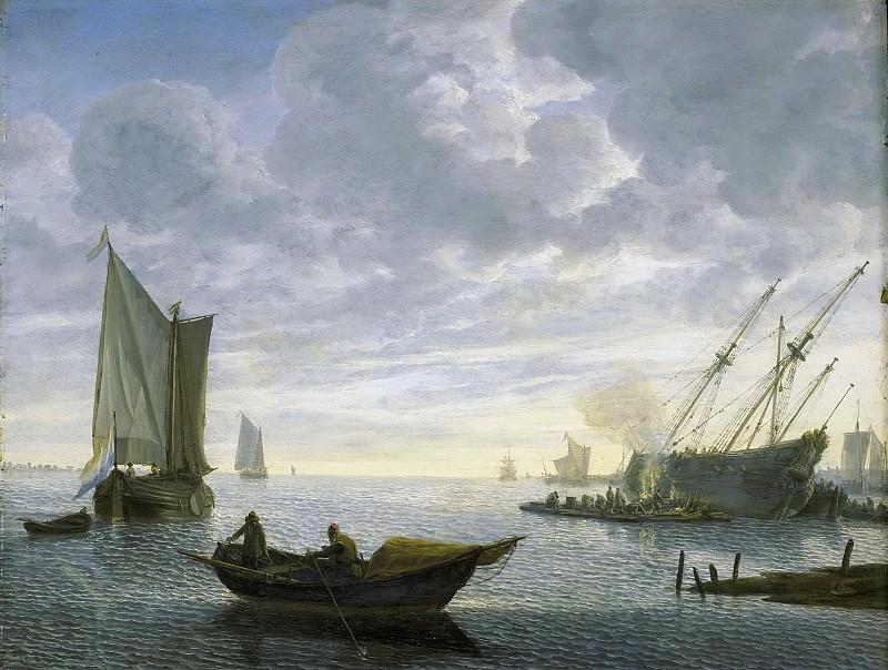Verschuier, Lieve Pietersz. -- Het kalefateren van een schip, 1660-1686. Rijksmuseum: part 4