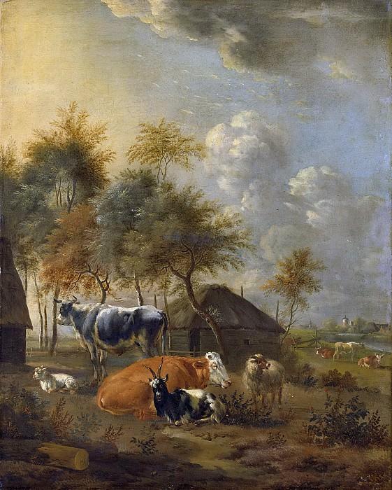 Монограммист И.Л. -- Домашний скот на фоне пейзажа, 1700-1799. Рейксмузеум: часть 4