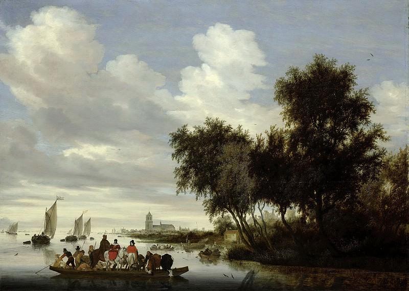 Ruysdael, Salomon van -- Rivierlandschap met een veerboot, 1649. Rijksmuseum: part 4