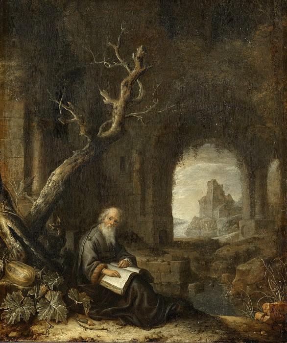 Ян Адрианс ван Ставерен -- Отшельник в руинах, 1650-1668. Рейксмузеум: часть 4