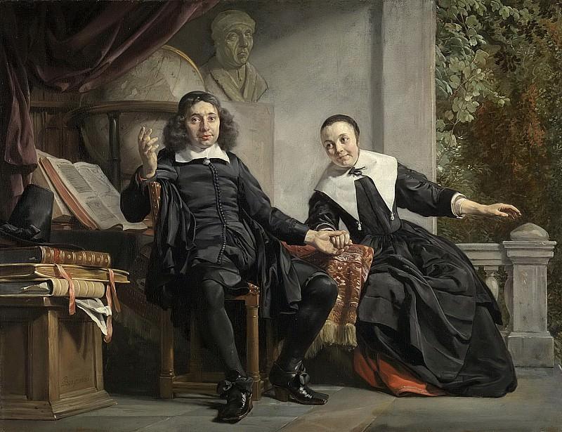 Ян де Брай -- Харлемский печатник Абрахам Кастелейн со своей супругой Маргаритой ван Банкен, 1663. Рейксмузеум: часть 4