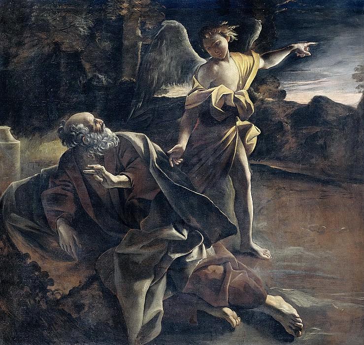 Lanfranco, Giovanni -- De profeet Elia in de woestijn door een engel gewekt, 1624-1625. Rijksmuseum: part 4