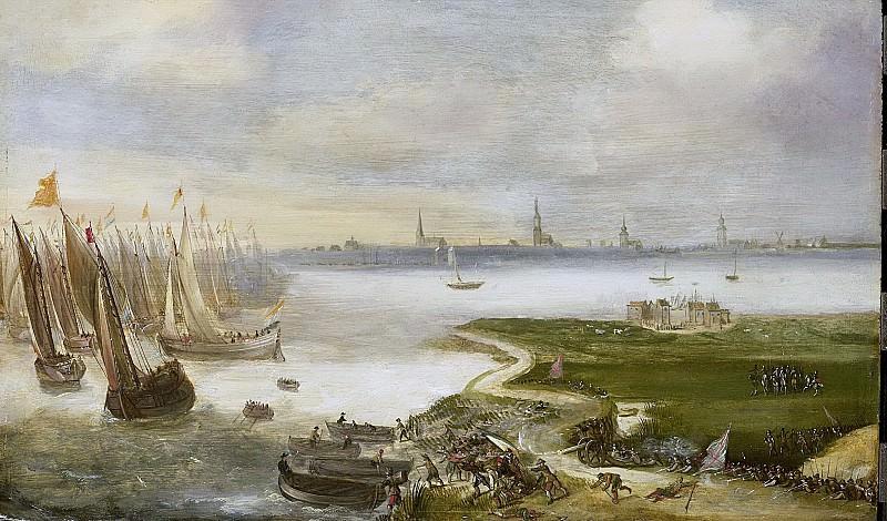 Unknown artist -- De mislukte aanslag op Antwerpen door prins Maurits, 17 mei 1605, 1605-1699. Rijksmuseum: part 4