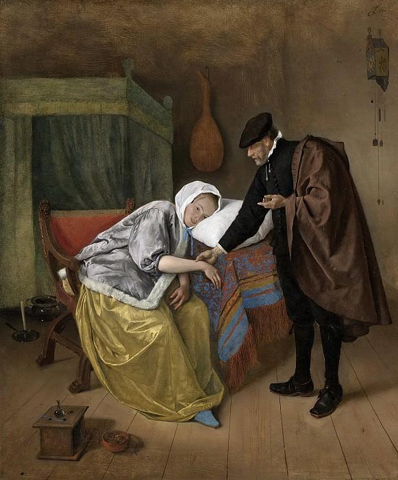 Steen, Jan Havicksz. -- De zieke vrouw, 1663-1666. Rijksmuseum: part 4