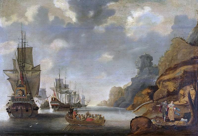 Якоб Адрианс Беллевойс -- Французская эскадра у скалистого побережья, 1640-1676. Рейксмузеум: часть 4