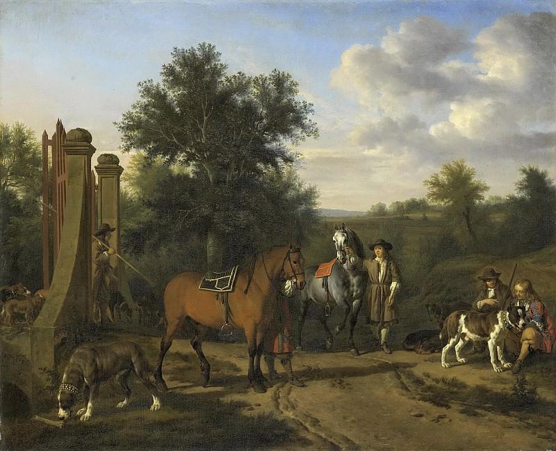 Velde, Adriaen van de -- De jachtpartij, 1669. Rijksmuseum: part 4