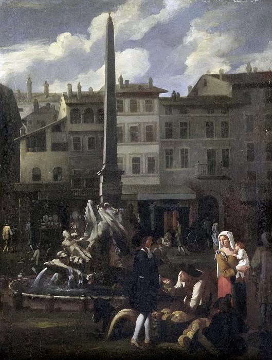 Михаель Свертс -- Сцена на рынке в Риме, 1650-1680. Рейксмузеум: часть 4