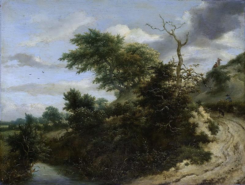 Ruisdael, Jacob Isaacksz. van -- Zandweg in de duinen, 1650-1655. Rijksmuseum: part 4