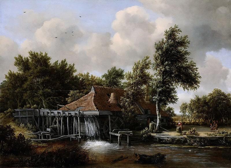 Hobbema, Meindert -- Een watermolen, 1662-1668. Rijksmuseum: part 4