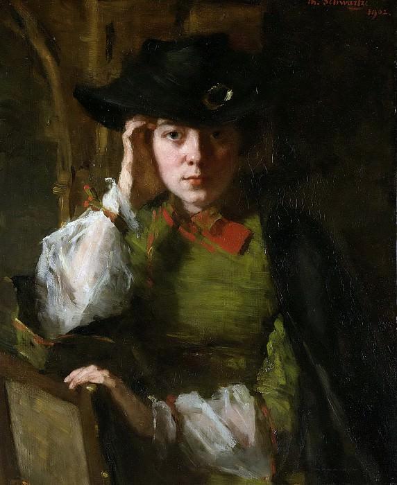 Schwartze, Thérèse -- Portret van Lizzy Ansingh, 1902. Rijksmuseum: part 4
