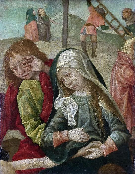 Мастер из Дельфта -- Мария и Иоанн Креститель, плачущие у тела Христа, 1500-1510. Рейксмузеум: часть 4