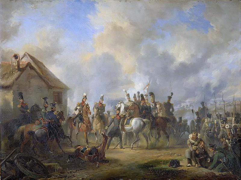 Pieneman, Nicolaas -- De slag bij Boutersem, 12 augustus 1831, gedurende de Tiendaagse Veldtocht, 1833. Rijksmuseum: part 4
