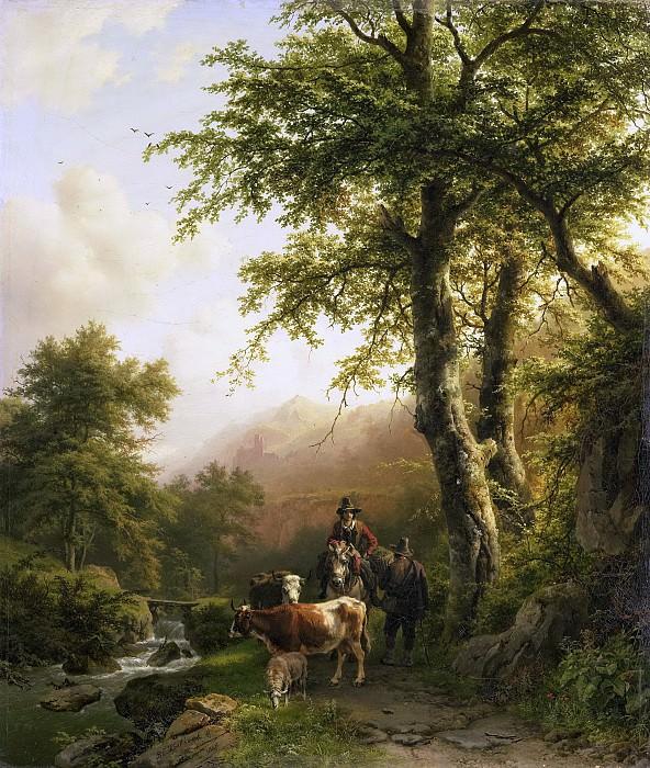 Koekkoek, Barend Cornelis -- Italiaans landschap, 1848. Rijksmuseum: part 4