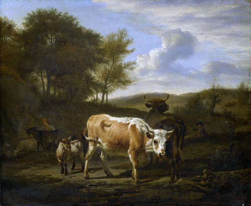 Velde, Adriaen van de -- Bergachtig landschap met vee, 1663. Rijksmuseum: part 4