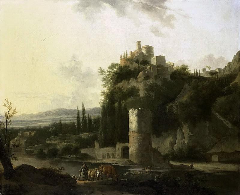 Moucheron, Frederik de -- Italiaans landschap met ronde toren, 1667. Rijksmuseum: part 4