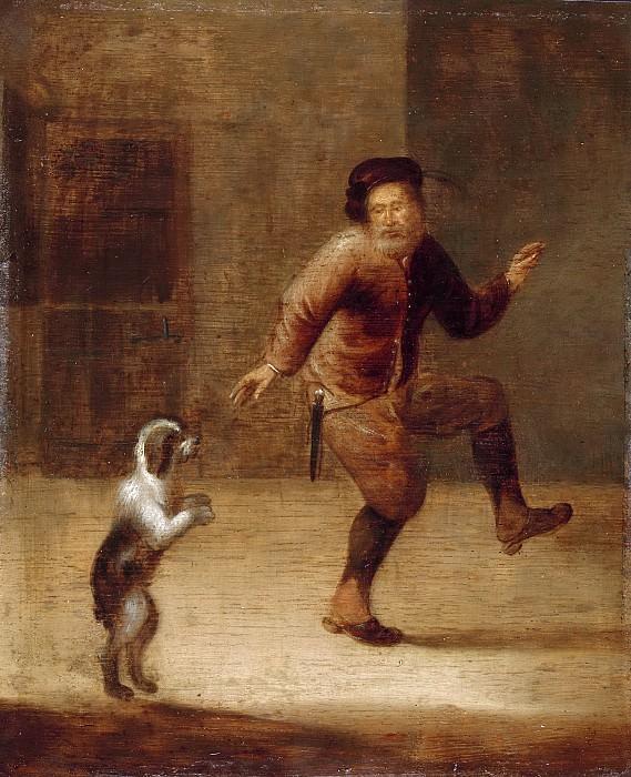 Verwilt, François -- Een man dansend met een hond, 1640-1660. Rijksmuseum: part 4