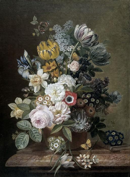 Эльке Йеллес Элькема -- Натюрморт с цветами, 1815-1839. Рейксмузеум: часть 4