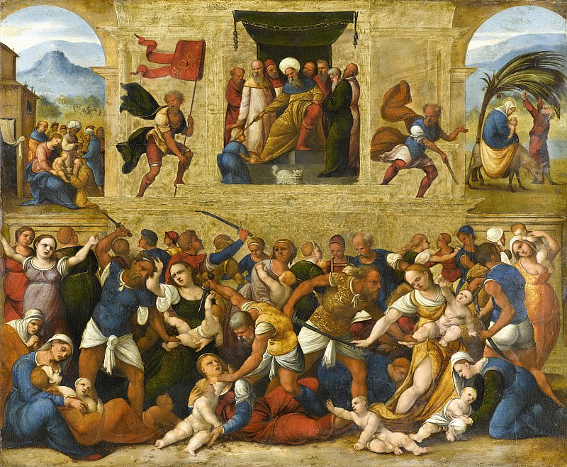 Mazzolino, Lodovico -- De kindermoord te Bethlehem, 1510-1530. Rijksmuseum: part 4