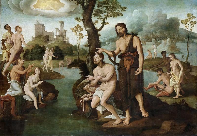 Heemskerck, Maarten van -- De doop van Christus, 1560-1565. Rijksmuseum: part 4