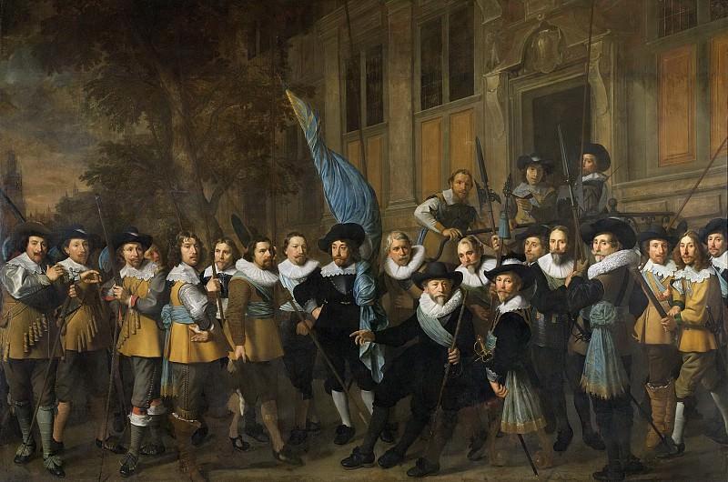 Pickenoy, Nicolaes Eliasz. -- Officieren en andere schutters van wijk IV in Amsterdam onder leiding van kapitein Jan Claesz van Vlooswijck en luitenant Gerrit Hudde, 1642. Rijksmuseum: part 4