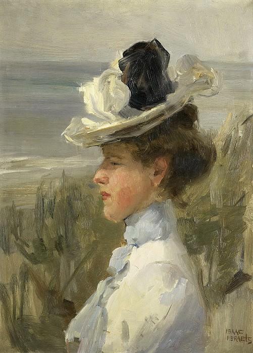 Исаак Исраэлс -- Молодая женщина, высматривающая что-то в море, 1885-1900. Рейксмузеум: часть 4