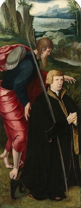Claesz. van Leyden, Aertgen -- Binnenzijde van de linkervleugel van een drieluik met de stichter en de heilige Jacobus de Meerdere, 1530-1535. Rijksmuseum: part 4