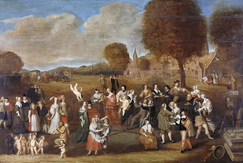 Noorderwiel, Hendrik -- De huwelijksfuik, allegorie op het huwelijk, 1647. Rijksmuseum: part 4