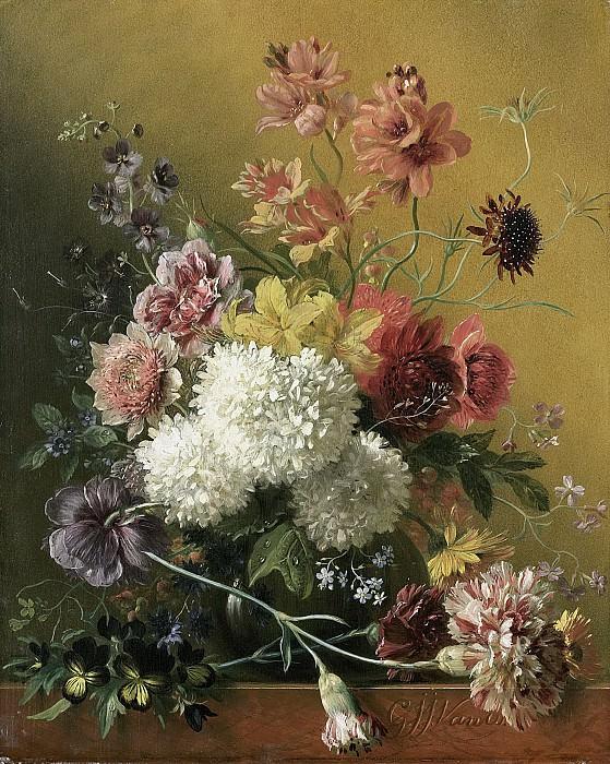 Os, Georgius Jacobus Johannes van -- Stilleven met bloemen, 1820-1861. Rijksmuseum: part 4