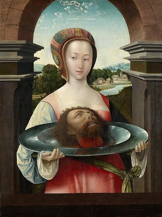 Cornelisz. van Oostsanen, Jacob -- Salome met het hoofd van Johannes de Doper, 1524. Rijksmuseum: part 4