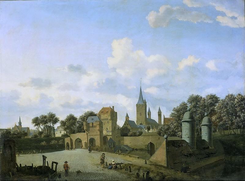 Ян ван дер Хейден -- Церковь Св. Северина в Кёльне, названная по имени надуманного прототипа статуи в городе, 1660-1672. Рейксмузеум: часть 4
