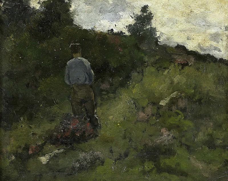 Roland Holst, Richard -- Boer bij een bosrand (1889), 1889. Rijksmuseum: part 4