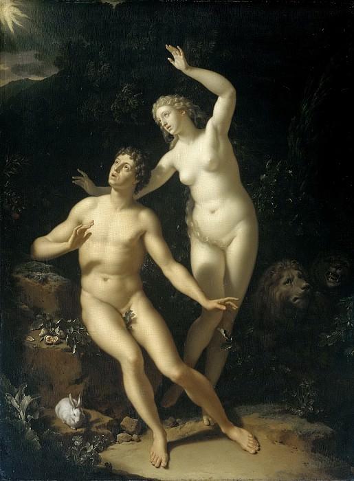 Werff, Adriaen van der -- God roept Adam en Eva ter verantwoording, 1717. Rijksmuseum: part 4