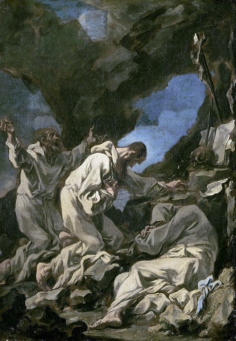 Magnasco, Alessandro -- Drie Camaldolenser monniken in extatisch gebed, 1710-1740. Rijksmuseum: part 4