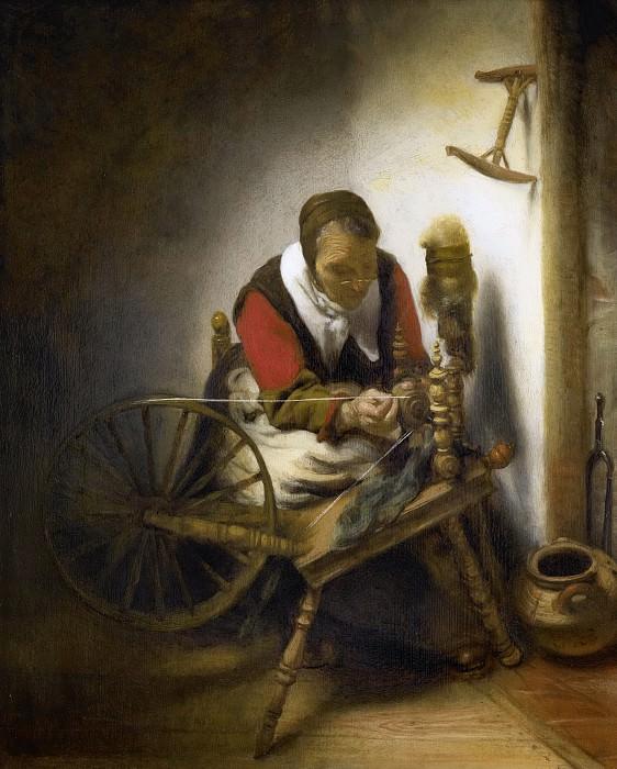 Maes, Nicolaes -- De spinster, 1652-1662. Rijksmuseum: part 4