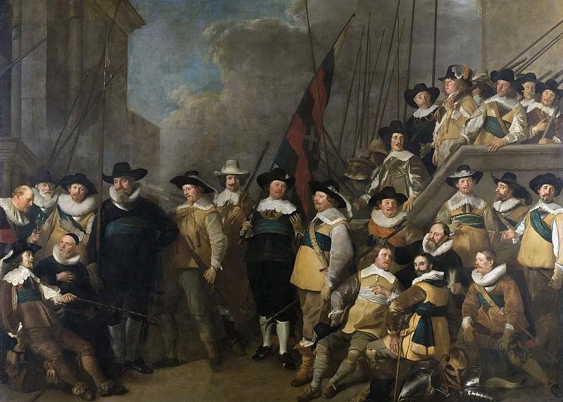 Backer, Jacob Adriaensz. -- Officieren en andere schutters van wijk V in Amsterdam onder leiding van kaptein Cornelis de Graeff en luitenant Hendrick Lauwrensz, 1642. Rijksmuseum: part 4
