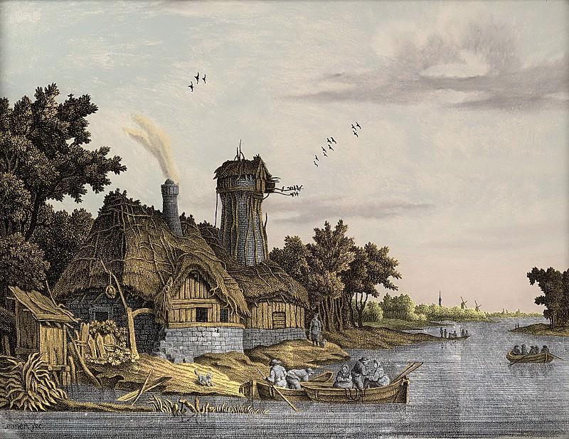 Йонас Зёнер -- Мельница у реки, 1770-1814. Рейксмузеум: часть 4