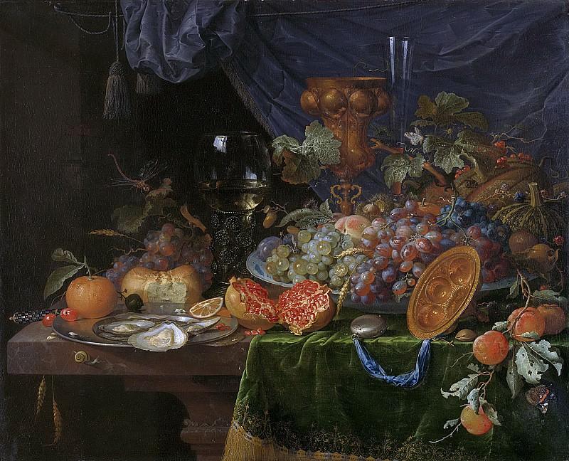 Mignon, Abraham -- Stilleven met vruchten en oesters, 1660-1679. Rijksmuseum: part 4