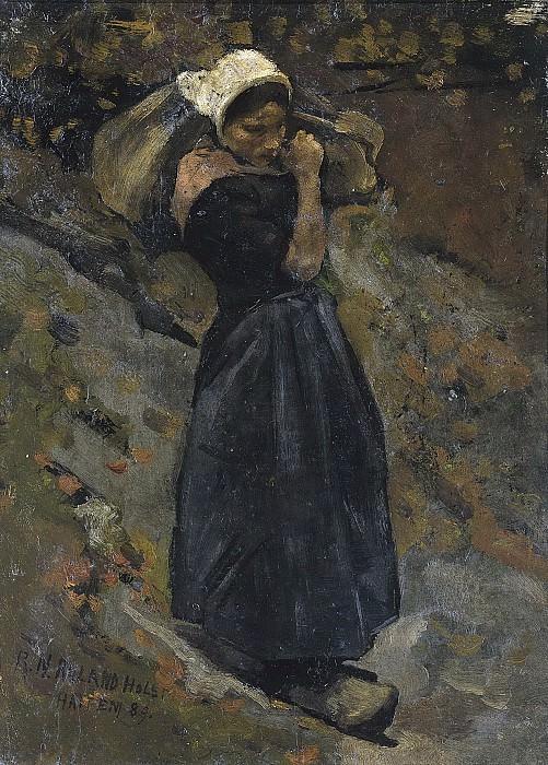 Roland Holst, Richard -- Boerin met een zak, 1889. Rijksmuseum: part 4