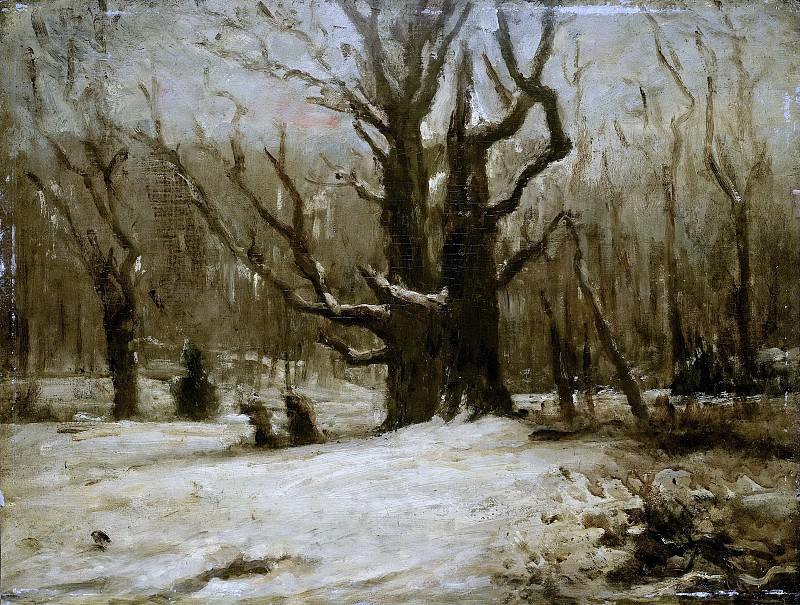 Courbet, Gustave -- Winterlandschap, 1850-1877. Rijksmuseum: part 4