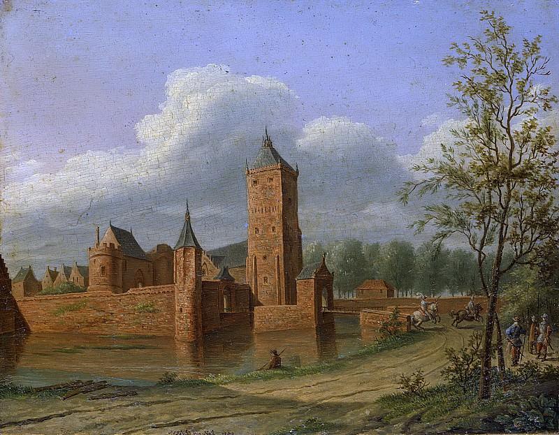 Ян Якоб Тейлер ван Халл -- Замок Батестейн у Вианена, 1840. Рейксмузеум: часть 4