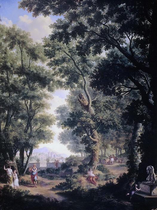 Юриан Андриссен -- Серия из десяти фресок с изображением пасторальных пейзажей в теплице на первом этаже дома по адресу Херенграхт 524, Амстердам, 1771. Рейксмузеум: часть 4