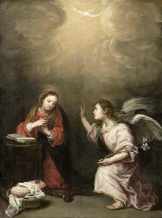 Murillo, Bartolomé Esteban -- De verkondiging aan Maria, 1700-1800. Rijksmuseum: part 4
